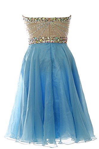 Dunkelgrun Gown 2016 Formal Short MACloth Strapless Prom Dress Women Chiffon Party Wedding 1HZUqHpPw