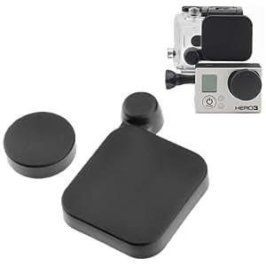 ARBUYSHOP estrenar ST-77 Lente de la cámara de la cubierta protectora de la cubierta del casquillo + carcasa de la cámara Gopro HD Hero 3 GoPro Deportes