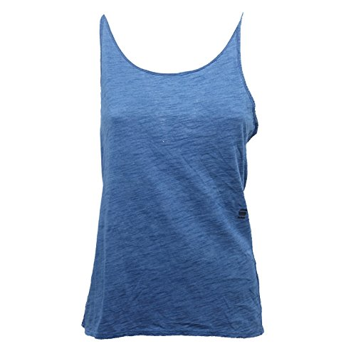 Smanicata star Sleeveless G T Maglia Woman B7868 Canotta Blu Donna Raw shirt fOfxnFRqY