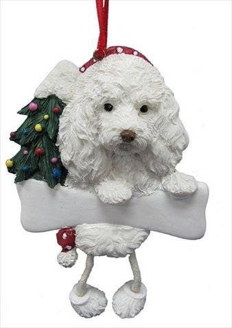 "White Maltipoo Ornament with Unique ""Dangling Legs"" Hand Painted  and Easily Personalized Christmas - Amazon.com: White Maltipoo Ornament With Unique"