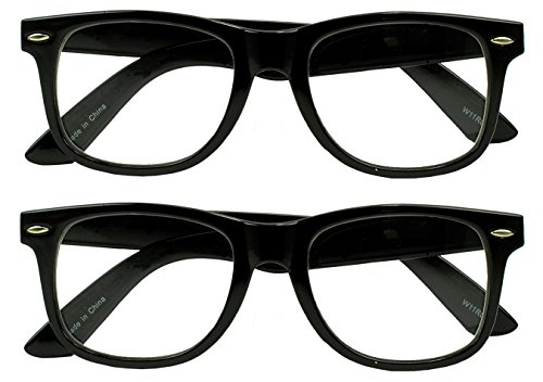 RX Strength Magnification Reading Eye Glasses +1.00 +1.50 +2.00 +2.50 +3.50 Readers Eyewear (2-Pack (Black), 1.75 x)