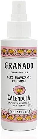 Óleo Corporal Terrapeutics Calêndula, Granado, Rosa Claro, 120ml
