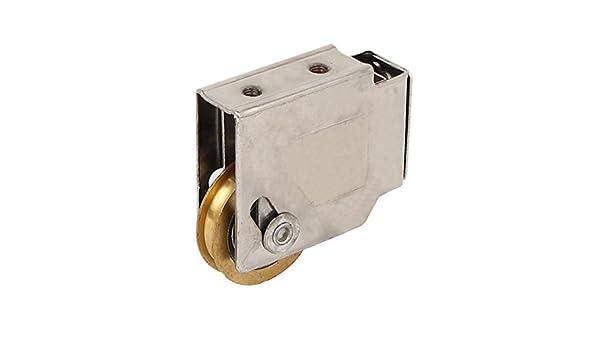 eDealMax 37mm x 8mm único rodillo de latón Para puerta corrediza Ventana Polea Rueda: Amazon.com: Industrial & Scientific