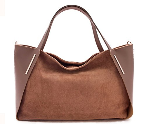 Superflybags Borsa A Mano In Vera Pelle modello Ginevra Made In Italy Taupe