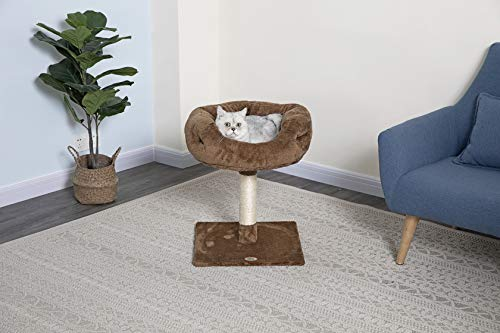 Go Pet Club F107 Tree Condo Scratcher Post Pet Bed Furniture, 24-Inch