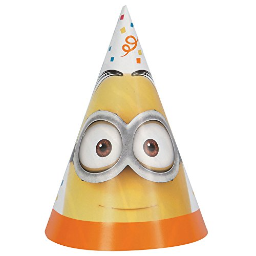 Despicable Me Minions Party Hats, 8ct -