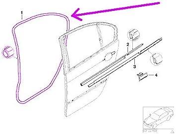Amazon.com: BMW e46 SEDAN Door Seal Weatherstrip LEFT Rear rubber gasket:  AutomotiveAmazon.com