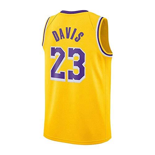 QJGY Basketball Jersey,Lakers Davis 23 Jersey,Basketball Sweatshirt,Classic Sleeveless Suit,Unisex,Fan Version - The Best Gift for Men's League