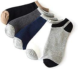 Best 5 Pairs 1 Pair Set Men Non Slip Breathable Comfortable Invisible Boat Socks Cotton Socks Sport Socks