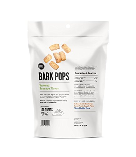 Picture of BIXBI Bark Pops All-Natural Dog Treats, Smoked Sausage, 4 Ounce