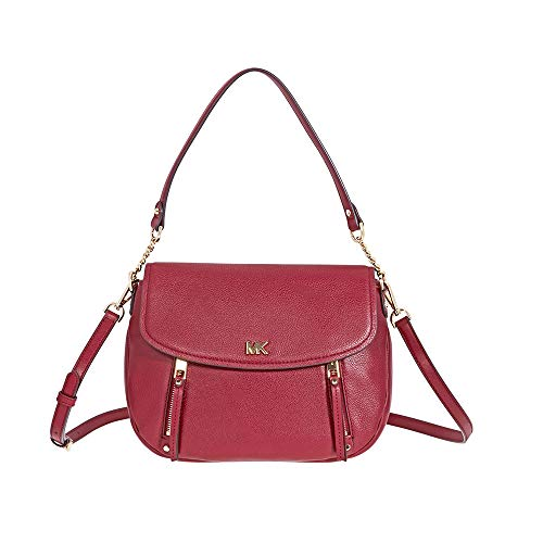 Evie large leather shoulder bag | Michael Kors Evie Medium Learher Shoulder Bag- Maroon