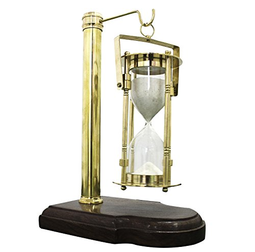 Vintage Wooden Stand Sand Timer Hanging Hourglass Vintage Clock Design Collection Of XMAS GIFTS - Collectibles Buy ()