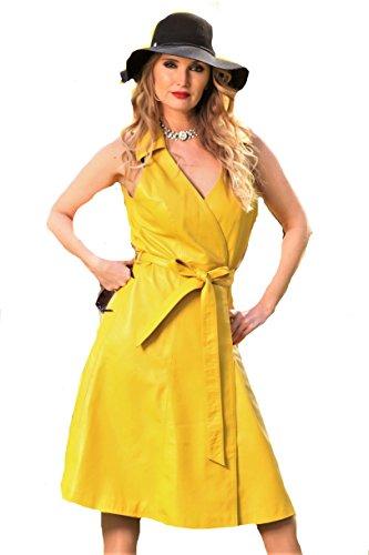 Noble Be Echtleder Lederkleid in aus gelb Florenz TqdFaqp4