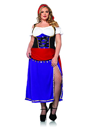 Leg Avenue Women's Traveling Gypsy Costume, Purple/Black, 1X-2X - Woman Gypsy Costumes