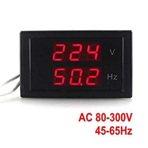 KETOTEK Digital AC Voltmeter Panel Mounting Meter AC80-300V Frequency Counter 45.0-65.0 HZ LED Display Voltage Frequency Meter Tester