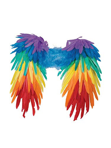 Forum Novelties Women's Rainbow Feather Wings, Multi, One Size -