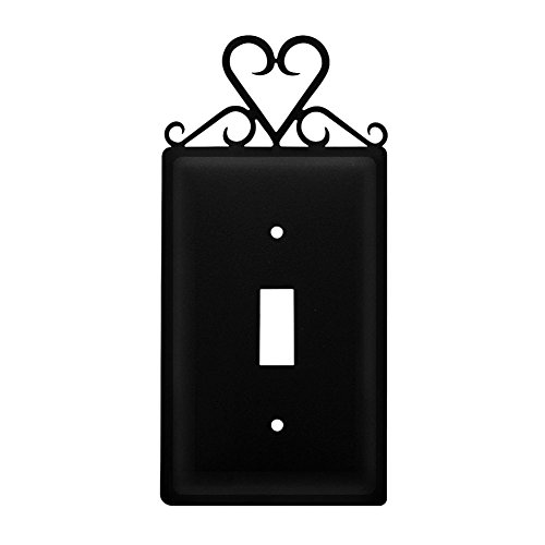 Scroll Iron Rocker Wrought - Iron Heart Switch Cover - Black Metal Valentine/Love
