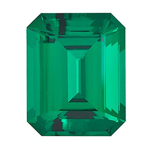 4.54-6.12 Cts of 12x10 mm AAA Emerald-Cut Russian Lab Created Emerald (1 pc) Loose Gemstone by Mysticdrop