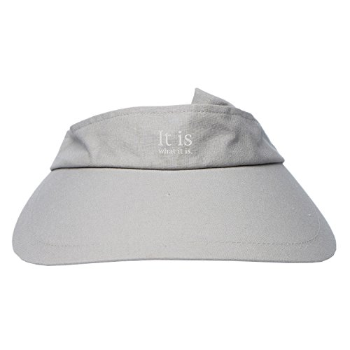 Sxiuyou Women's Summer Embroidery It Is What It Is UV Protection Sun Visor - Protection Uv Is What