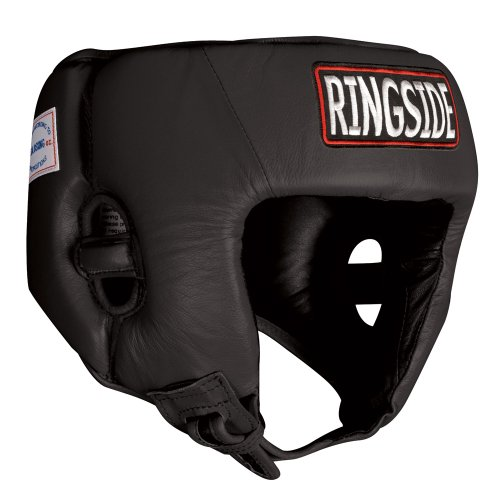 Ringside Competition Boxing Headgear without Cheeks, Black, Medium