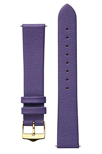 signature-easy-in-purple-18-mm-short-watch-band-replacement-watch-strap-genuine-leather-gold-buckle