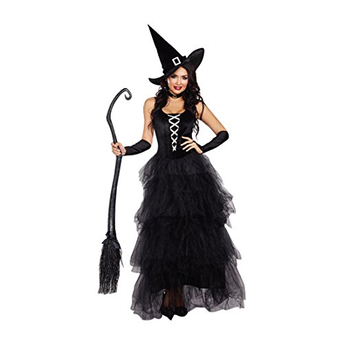 [Dreamgirl Women's Spell Bound Costume, Black/Silver, Small] (Black Magic Woman Costume)