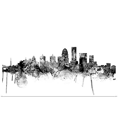 Great Big Canvas Poster Print Entitled Louisville Kentucky City Skyline by Michael Tompsett