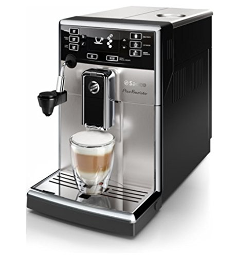 Saeco PicoBaristo - Cafetera espresso automática, con espumador de leche automático (importada)