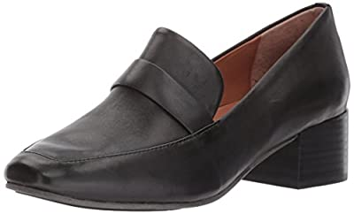 Gentle Souls by Kenneth Cole Women's Eliott Menswear Block Heel Loafer- Leather Dress Pump