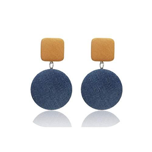 YY Cherry Trendy Earrings For Women Denim/Hanging/Long//Statement/Drop/Round/Geometric Earring ()
