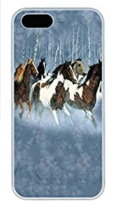 For HTC One M9 Phone Case Cover Winter Run Horse PC Hard Plastic For HTC One M9 Phone Case Cover Whtie