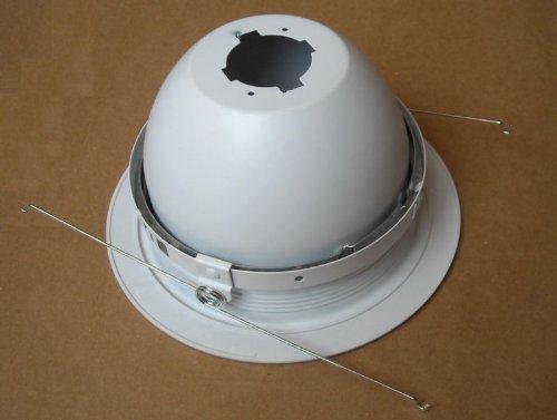 6'' Inch Recessed CAN Light R30 PAR30 Metal Retractable Adjustable REGRESSED Eyeball Trim White