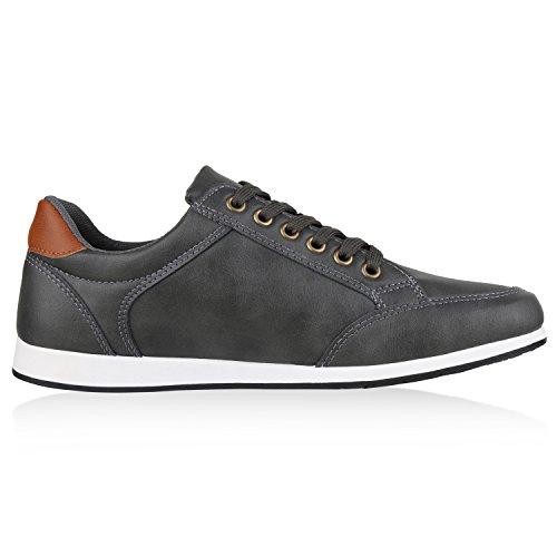 Basic VITA Low SCARPE Sneaker Herren Grau rIdtqta