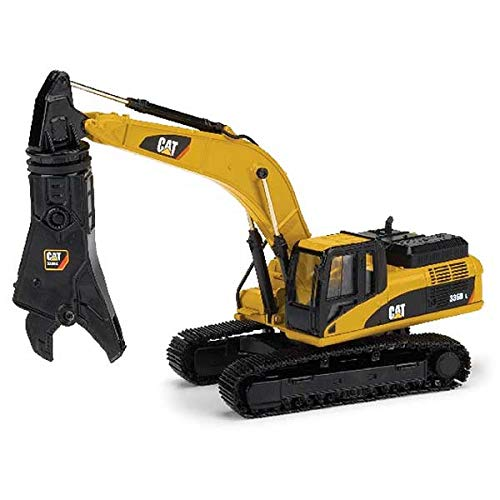 Norscot Cat 336D L Hydraulic Excavator with Cat S365C Scrap and Demolition Shear (1:50 Scale), Cat Yellow ()