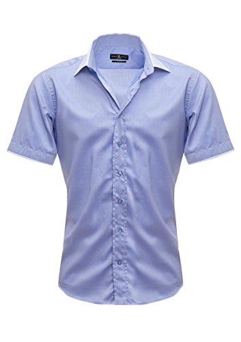 Giorgio Capone - Chemise casual - Loisirs - Homme -  bleu - X-Large