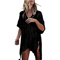 HARHAY Women's Summer Swimsuit Bikini Beach Swimwear Cover up Black
