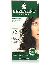 Herbatint Permanent Herbal Hair Color Gel, 2N Brown,...
