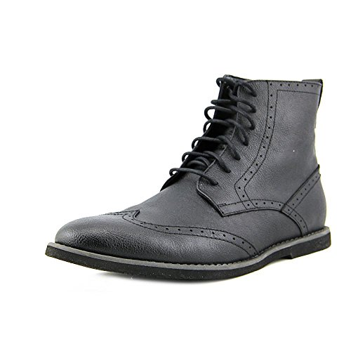 Calvin Klein Men's Fields Leather Boot,Black,11.5 M US