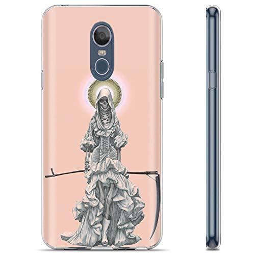 [Mobiflare] LG LG Stylo 4 / Q Stylus [Clear] Ultraflex Thin Gel Phone Cover [Santa Muerte Print]