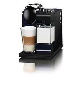 Nespresso Lattissima + Midnight Blue EN520BL DeLonghi  - Cafetera monodosis (19 bares, Preparación automática de Capuccino, Apagado automático programable), Color azul