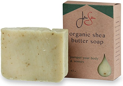- Handmade Mint Tea Exfoliating and Moisturizing Natural Organic Shea Butter Soap Bar - Essential Oils