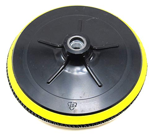 """(Elitexion 7"""" Backing Plate for Polishing Buffering Soft Wool with Hook and Loop Pad - 5/8"""" TPI Spindle)"""