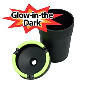 glow in the dark automobile car cup holder ashtray office products. Black Bedroom Furniture Sets. Home Design Ideas
