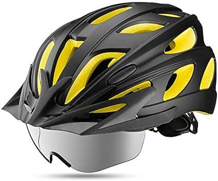 gdangel Bicicleta Casco Cascos De Bicicleta Moldeados Integralmente Gafas Ultralight Magnetic MTB Mountain Bike Cascos con Gafas De Sol