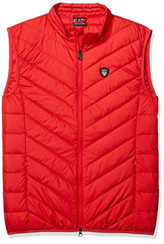 (EA7 Emporio Armani Active Men's Train Core Down Light Vest Shield, Racing red, M)