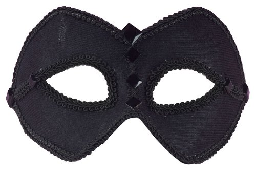 Black Harlequin Half Mask (Black Half Mask - Adult Std.)