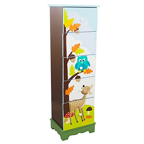 Fantasy Fields - Enchanted Woodland Hand Crafted Kids Storage Cabinet with 5 Drawers