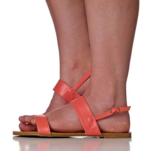 Women's Sandals Coral Flat Slingback Two Riverberry Strap Eve cO6BvqqC