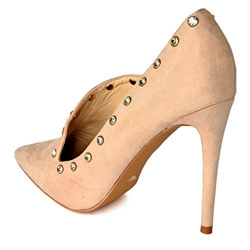 Sandali Beige Donna con WeHeartShoes Zeppa CwxqddH