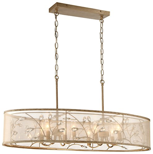 Minka Lavery Minka 4436-252 Transitional Eight Island Light from Sara`S Jewel Collection in Gold, Champ, Gld Leaffinish, 36.00 Inches S 36.00 Incheseight by Minka Lavery